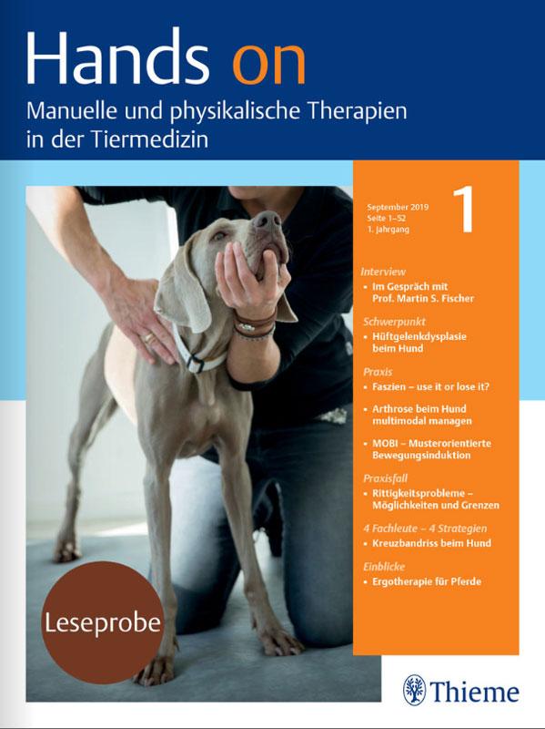 Neue Fachzeitschrift für manuelle und physikalische Therapien von Tieren