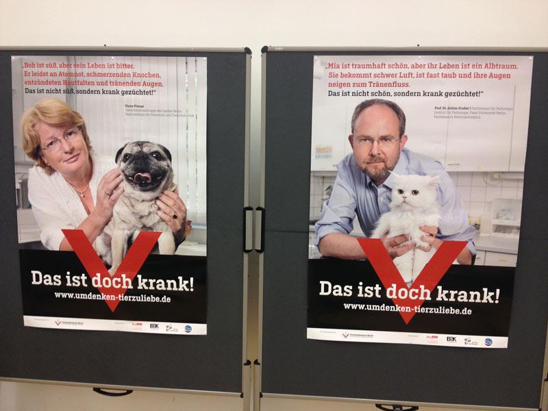 Plange und Gruber, 300 dieser Plakate hängen seit  dem 1. November in Berlin.