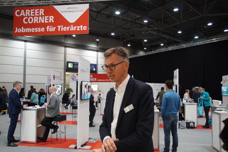 Die erste Jobmesse für Tiermedizin – Career  Corner, ausgerichtet von der Messe und von v.  Hardenberg wurde gut angenommen.